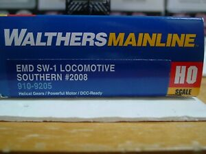 HO Scale Walthers Mainline #910-9205 Southern EMD SW1 #2008 DCC ready
