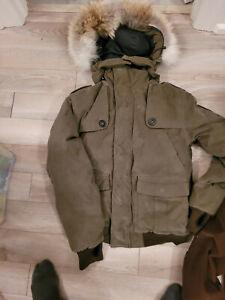 Canada  Bomber Down Parka  Jacket Corduroy lim ed MooseGreen  size M  MSRP995$