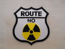 ROUTE NO RADIATION   NEW EMBROIDERED IRON ON/SEW ON NAME PATCH  TAG