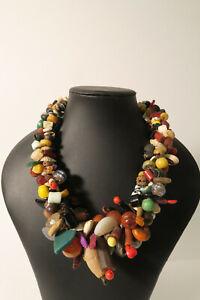 Mächtiges Collier Mali DS68 Sammelsurium Perlen broken beads