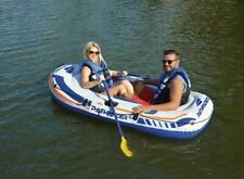 Pathfinder 2 Person Inflatable Raft Boat With Pump & Oars Sports River Canoe Raf