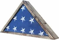 Rustic Burial/Memorial Flag Display Case for 5'X9.5' Folded Casket Flag
