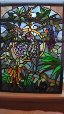 Beautiful Large Stained Glass Parrot Plaque from Early 1960's