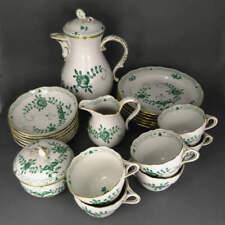 Porzellan Meissen Kaffeeservice Indisch Grün