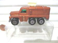 Lesney Matchbox MB16 Bronze Badger Truck Dark Grey 4 Line Base Cream Antennae