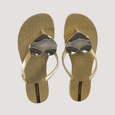 25030bbc480 Ipanema MAXI HEART Womens Ladies Summer Beach Toe Post Sandals Flip Flops  Gold