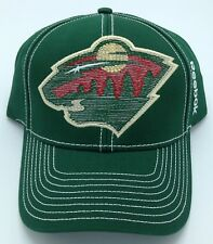 NHL Minnesota Wild Reebok Adult Structured Adjustable Fit Cap Hat Beanie NEW!