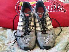Mens Adidas Kanadia TR4 Trail Running Hiking Size 10.5 green and gray EUC!!