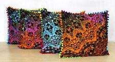"Indian Mandala Tie Dye 4 Pcs Set Of 16"" Pillow Cover Sofa Decor Cushion Covers"
