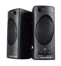 Stereo PC Lautsprecher Aktiv USB Laptop Boxen schwarz 3,5mm Kopfhörer EIN/AUS