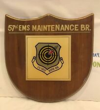 57th EMS MAINTENANCE BR. 57TH FIGHTER WEAPONS WING. PLAQUE ONE OF A KIND!