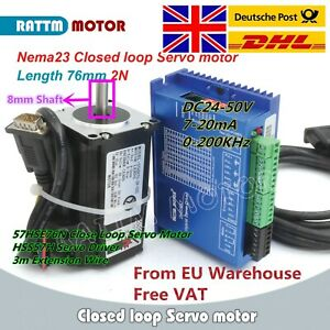 【EU Stock】 Nema23 Closed Loop 2N.m Servo Motor & Hybrid 6A HSS57 Driver CNC kit