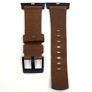 Nomad - Modern Leather Watch Strap for Apple 42mm & 44mm Brown Black Lugs - USED