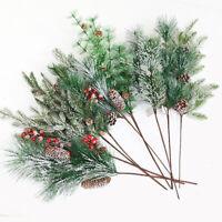 Artificial Flower Pine Branch Xmas Plants Christmas Tree Ornament Home Decor