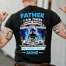 Father I Am There Waiting Watching Dragon Men TShirt 100% Cotton Black S-6XL[XL]