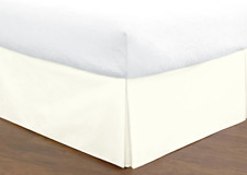 """NEW 14"""" Tailored Split Corner Bed Skirt Queen Size Ivory Todays Home"""