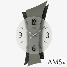 AMS Horloge murale 9400 QUARTZ DU SALON Montre Verre minéral carbon-applikation