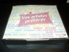 """COFFRET 6 CD """"VOS ARTISTES PREFERES"""" 120 titres variete Francaise"""