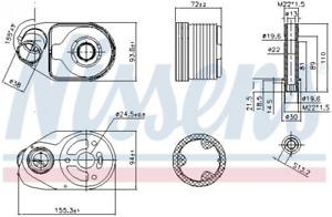 Ölkühler, Motoröl NISSENS 90796 für FIAT IVECO