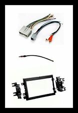 Double Din Stereo Radio Install Kit Wire Harness Antenna Adapter for select Ford