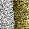 2m of GOLD OR SILVER BEADED CORD THREAD SEWING TRIM 5mm THICK