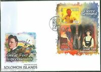 SOLOMON ISLANDS 2013 GREAT IMPRESSIONISTS   PIERRE BONNARD   S/SHEET FDC
