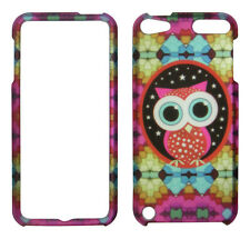 Colorfull star owl  for Apple Ipod Touch 5 5th Gen. Rubberized Feel Case Cover