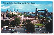 TOWER OF LONDON - TOWER BRIDGE - LONDON ENGLAND- POSTCARD # L6