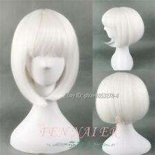 White Straight Bobo Woman's Cosplay Wig Synthetic Costume Party Full Hair Wigs