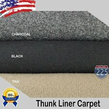 "Black/Charcoal/Tan Un-Backed Automotive Trunk Liner Carpet 54"" Wide -By the Yard"