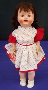 Roddy Hard Plastic Doll Vintage Walker Girl England with Cardboard Hang-Tag