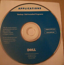 Dell backup CD for installed programs applications P/N 0D027 Rev. A00 Hrdly Used