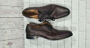 Florsheim The Angelo Shoes Brown Leather Oxfords Cap Toe 11756 MEN'S SIZE 9 M