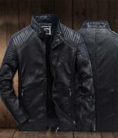 New Casual Mens PU Leather Jacket Biker Slim Fit Motorcycle Jackets Blazer Coats