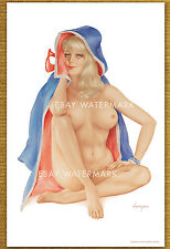 1970's Alberto Vargas Authentic Pin-Up Poster Art Print Mouth To Mouth 11x17