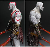"7"" God of War 2 Kratos Flaming Blades of Athena Statue Model Action Figures Toy"