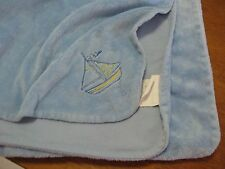 """baby EXPECTATIONS MARTEX BLUE YELLOW sailboat boat BLANKET LOVEY SOFT 38x30"""""""