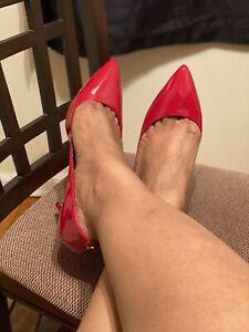 Gorgeous Patent Leather Red J. Renee Heels Pumps US Women's Sz 13W NWOB