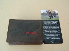 Harley-Davidson Geldbörse, Portemonnaie Wallet TRI-FOLD US1836L brown Bison -USA