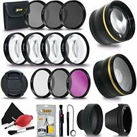 Pro 52MM Accessories Bundle Kit f/ Nikon D5600 D5500 D5300 D5200 D5100 D5000