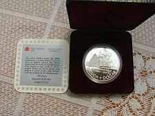 1987 CANADIAN SILVER PROOF DOLLAR... JOHN DAVIS ANNIVERSARY...CASED WITH COA..