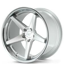 4 20x85 Ferrada Wheels Fr3 Silver Machined With Chrome Lip Rimsb30 Fits 2012 Jeep Grand Cherokee