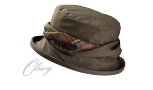 New Ladies Olney Emma Wax Outdoor Weatherproof Country Hat - Style R4384
