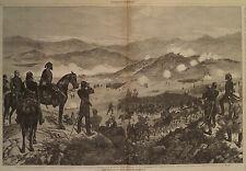 BATTLE OF KIZIL-TEPE IN ARMENIA Caucasian Battlefield HARPER'S WEEKLY 1877