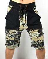 True Religion Brand Jeans Men's Geo Camo Blocked Sweatshorts - 100226 Size S