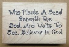 Mounted Rubber Stamps, Sayings & Quotes, Gardening, Flowers, Christian Stamps