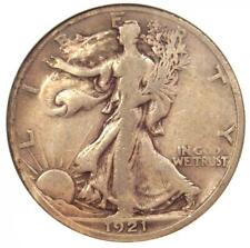 1921-S Walking Liberty Half Dollar 50C - ANACS VF20 - Rare Date - $780 Value!