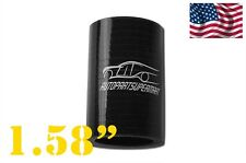 """4-ply Silicone Straight Coupler Hose Pipe couplings 40mm 1.58"""" Black"""