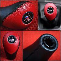 BMW M SPORT RED & BLACK 5 SPEED GEAR SHIFT KNOB E30 Z1 E34 E36 Z3 E46 E53 E85 Z4