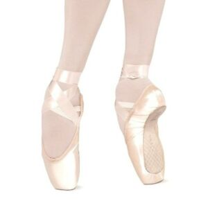"Repetto ""La Bayadere"" Satin Ballet Pointe Shoes, Full Shank, Medium or Hard, NWD"